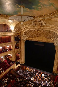 L'Opéra Comique - Paris, one day we will all go. Serena Van Der Woodsen, I Love Paris, Dream City, Paris Hotels, Night City, Most Beautiful Cities, Concert Hall, Interior Exterior, Paris Travel