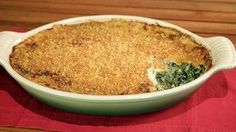 Michael Symon's creamed greens casserole is to die for! The Chew Recipes, Side Dish Recipes, Vegetable Recipes, Vegetarian Recipes, Cooking Recipes, Thanksgiving Recipes, Holiday Recipes, Holiday Ideas, The Chew Tv Show