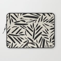 Not So Black and white leaves Laptop Sleeve by CRYSTAL WALEN | Society6