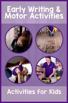 We think it's important to make early writing fun so check out these simple activities which help children to strengthen their muscles and develop motor skills ready for writing!   #earywriting #motorskills #activitesforkids Motor Skills Activities, Gross Motor Skills, Activities For Kids, Muscles, Things To Think About, Writing, Children, Simple, Check