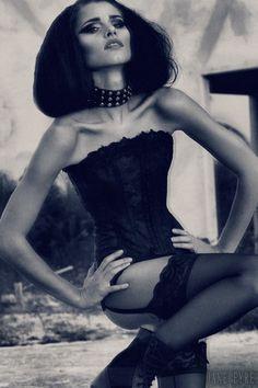 """One Gorgeous Beast""  Model: Mila Todorova, Makeup, Wardrobe, Photography, Editing: Jane Eyre Doyle. Hair: Robert Doyle and Jane Eyre Doyle."