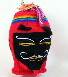 Festival of Qoullyuritti mask, Cusco region of Peru. Máscara utilizada por los ukukus. Espíritu del oso guardian del agua en la cima de las montañas de Sinakara