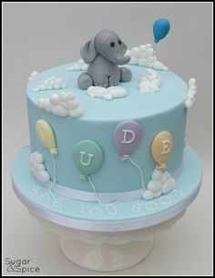 15 Adorable Elephant Cakes