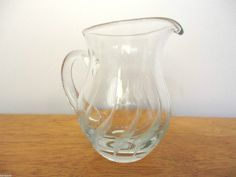"Beautiful Vintage Cut Crystal Etched Creamer/Pitcher 4"" Tall on eBid United States"