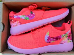 Custom Women's Nike Roshe Run Floral Swoosh by ConverseCustomized