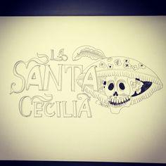 Dia de los Muertos illustration for la Santa Cecilia