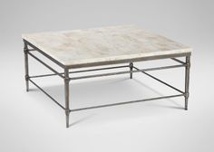 Vida Square Stone Top Coffee Table| Coffee Tables | Ethan Allen
