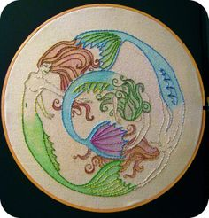 Mermaid circle by GoldWillow, via Flickr