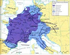 Here's some Carolingian Empire. The Franks were a Germanic tribe that conquered the Roman province of Gaul and converted to Catholicism. The Carolingians were a dynasty tracing from Charles Martel, whose son Pepin became the first king of the dynasty. Charlemagne was Pepin's son and successor.