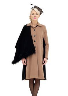 'Harlow' hat by Aoife Kirwan Millinery, coat from Heidi Higgins AW12 collection. www.AoifeKirwanMillinery.com