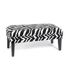 Zebra Print Storage Bench at Kirkland's-the princess's room