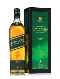 Johnny Walker Green Label. For when you wanna have a good time and not pay for it in the morning.