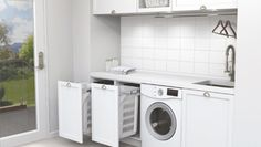 Nobby Kitchens conduct laundry and kitchen renovations and makeovers in Sydney, turning the dull chipped and hideously unfashionable into sleek, functional and enviable. Laundry In Kitchen, Laundry Cupboard, Small Laundry Rooms, Laundry In Bathroom, Bathroom Renos, New Kitchen, Laundry Basket, Bathroom Ideas, Kitchen Ideas