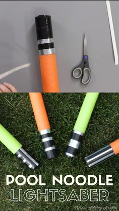 How to Make a DIY Pool Noodle Lightsaber - Star Wars Mandalorian - Ideas of Star Wars Mandalorian - Learn how to make a Noodle Lightsaber with this step by step tutorial. An Easy DIY Star Wars Craft that is fun for all ages! Make your own Light Saber! Star Wars Baby, Star Wars Kids, Star Wars Food, Star Wars Birthday, 1st Boy Birthday, Cake Birthday, Birthday Ideas, Diy Star, Diy Lightsaber