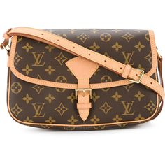 Louis Vuitton Vintage Sologne cross body shoulder bag ($1,864) ❤ liked on Polyvore featuring bags, handbags, shoulder bags, brown, leather crossbody handbags, leather handbags, leather crossbody purse, louis vuitton crossbody and crossbody purses