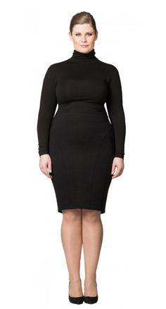 Robin Skirt—Carmakoma $95.00 #Carmakoma, #plussizeclothing, #skirt, #blackonblack