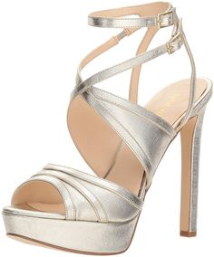 548d72559e6 David s Bridal Crisscross Strap Block Heel Sandals Style Frenzy ...