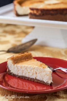 Eggnog Cheesecake with Dark Rum and Biscoff Cookie Crust