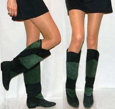 Green, green, green suede boots baby!