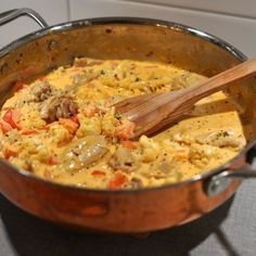 Lchf, Wok, Cheeseburger Chowder, Risotto, Curry, Food And Drink, Pasta, Ethnic Recipes, Curries
