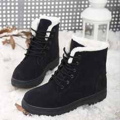 Women Boots 2017 Winter snow Boots Women Warm Fur Ankle Boots For Women Warm Winter Shoes Botas Mujer bota feminina Short Winter Boots, Short Boots, Girls Winter Boots, Dr Shoes, Flat Shoes, Golf Shoes, Platform Shoes, Oxford Shoes, Ankle Snow Boots