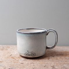 Blue Ceramic Bike Mug by JuliaSmithCeramics on Etsy https://www.etsy.com/listing/259419294/blue-ceramic-bike-mug