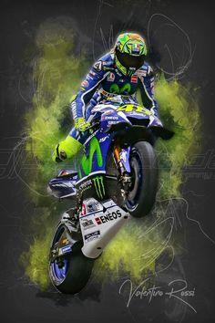 Valentino Rossi Logo, Valentino Rossi Yamaha, Moto Wallpapers, Velentino Rossi, Course Moto, Yamaha Bikes, Motorcycle Wallpaper, Bike Art, Super Bikes