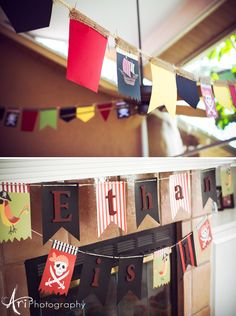 Great collection of ideas for the Pirate theme; lots of eats and decor that won't break the bank.