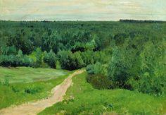 Forêt donné, huile sur toile de Isaac Levitan (1860-1900, Lithuania)