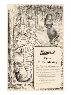 Michelin Tyre Advert Giclee Print -