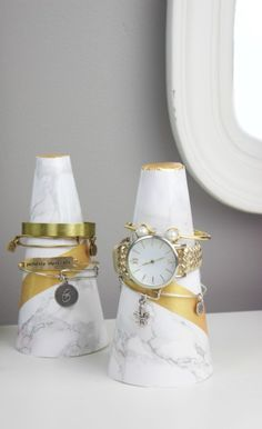 DIY Marble Cone Bracelet Holders - A Little Craft In Your DayA Little Craft In… More