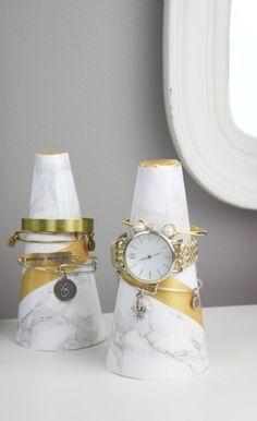 DIY Marble Cone Bracelet Holders