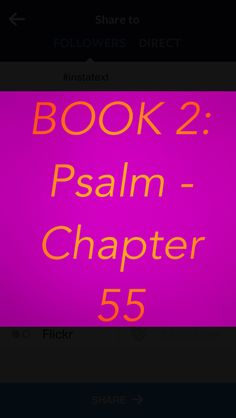 "Bible Devotion: Psalm 55 Theme: Expressing deep dismay over the treachery of a close friend. When friends hurt us, the burden is too difficult to carry alone.  Author: David  This psalm was most likely written during the time of Absalom's rebellion and Ahithophel's. Some say versus 12-14 are Messianic because they also describe Judas's betrayal of Christ.  Verses I highlighted:1, 6, 16, 17, 22 (excerpt) ""...Cast your cares on the Lord and he will sustain you...""…"