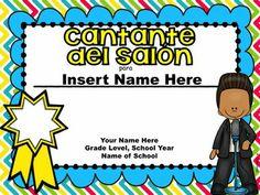 END OF THE YEAR AWARDS IN SPANISH - TeachersPayTeachers.com