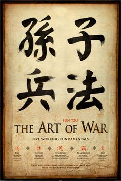 """THE ART OF WAR - """"The supreme art of war is to subdue the enemy without fighting."""" """"Appear weak when you are strong, and strong when you are weak."""""""