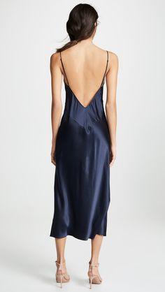 Long Silk Nightgown, Silk Gown, Silk Charmeuse, Olivia Von Halle, Satin Dresses, Nice Dresses, Light Blue Dress Shirt, Black And Silver Dress, Mint Green Dress
