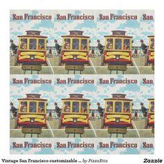 ZAZZLE.FR Tissu personnalisable vintage de San Francisco
