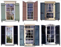 Exterior shutter styles