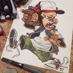 marker rendering on crem paper Markers, Roman, Graffiti, Street Art, Hip Hop, Princess Zelda, Drawings, Illustration, Behance