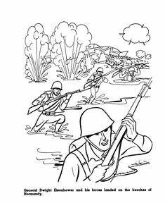 Veterans Day Coloring Pages World War II