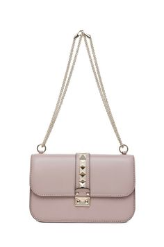 VALENTINO Medium Lock Flap Bag in Poudre $2,245