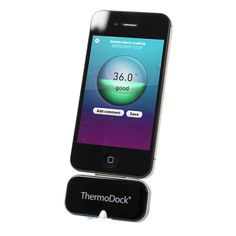 Measure your temperature using your iPhone? It's easy with this nifty peripheral because it utilises non-contact infrared technology to measure body temperature, room temperature, surface temperature and even water temperature. Simply plug in, download the app and you're away.