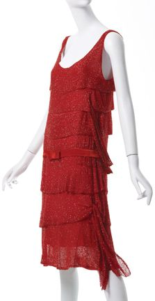 """Gabrielle """"Coco"""" Chanel (French, 1883-1971). Dress, 1925, crystal beads on silk chiffon.  Collection of Phoenix Art Museum, gifts of Mrs. Wesson Seyburn. Photographs by Ken Howie."""