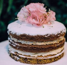 naked cake flower desert love cake