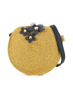 Golden brown petal-detail round shoulder bag from LITTLE MARC JACOBS featuring a round body, a shoulder strap, a top handle and a main internal compartment. Little Marc Jacobs, Girls Accessories, World Of Fashion, Luxury Branding, Saddle Bags, Shoulder Strap, Floral, Coin Purse, Neutral