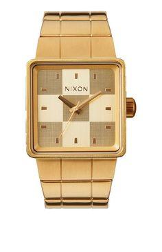 Quatro - Matte Black / Gold | Nixon Neo Preen