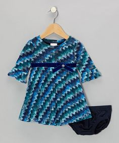 Take a look at this Navy Waves Dress - Infant, Toddler & Girls by Nannette on #zulily today!