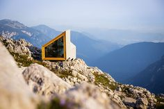 High in the Slovenian Alps, a Shelter From the Storm - http://freshome.com/slovenian-alpine-shelter/