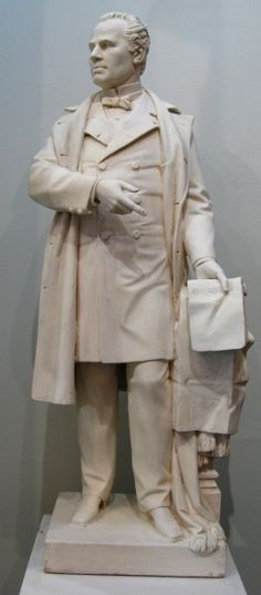 "Louis-Philippe Hébert, ""Sir Georges-Étienne Cartier,"" Plâtre, 28.75"" Claude, Philippe, Sculpture, American, Cartier, Statue, Collection, Canadian Art, American Art"