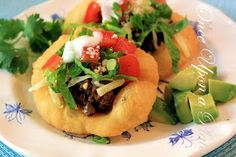 Once Upon a Plate The Recipes: Indian Fry Bread Tacos ~ Snack Size!